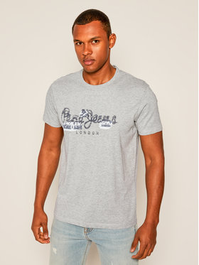 Pepe Jeans Pepe Jeans Tricou Salomon PM507272 Gri Regular Fit