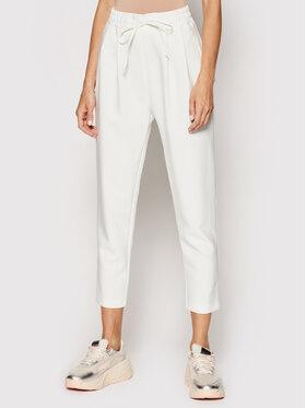 Rinascimento Rinascimento Kalhoty z materiálu CFC0102332003 Bílá Regular Fit