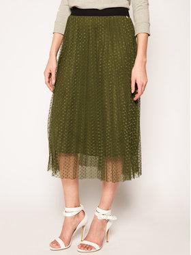 Liu Jo Liu Jo Plisovaná sukně WA0401 J5925 Zelená Regular Fit