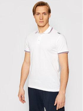 CMP CMP Тениска с яка и копчета 39D8367 Бял Regular Fit