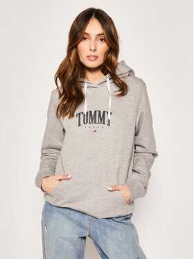 Tommy Jeans Tommy Jeans Mikina Essential DW0DW07974 Šedá Regular Fit