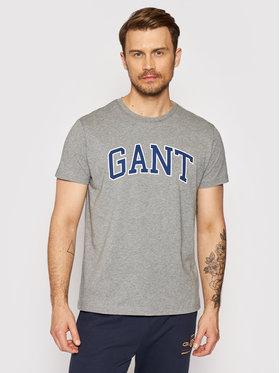 Gant Gant Тишърт Arch Outline 2003007 Сив Regular Fit