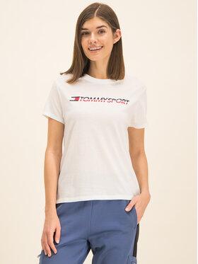Tommy Sport Tommy Sport T-shirt Tee Logo S10S100061 Blanc Regular Fit