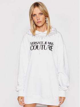 Versace Jeans Couture Versace Jeans Couture Sukienka dzianinowa Crystal 71HAIG03 Biały Boxy Fit