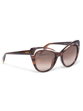 Furla Furla Okulary przeciwsłoneczne Sunglasses SFU405 405FFS9-RCR000-AN000-4-401-20-CN-D Brązowy