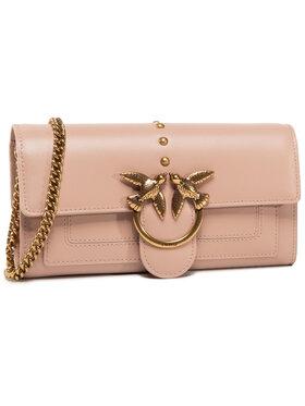 Pinko Pinko Дамска чанта Love Wallet Simply 2 C AI 20-21 PLTT 1P21SF Y6JC Розов