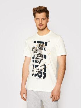 4F 4F T-Shirt H4L21-TSM011 Weiß Regular Fit