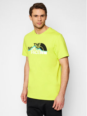 The North Face The North Face Тишърт Mountain Line Tee NF00A3G2JE31 Зелен Regular Fit