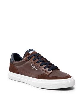 Pepe Jeans Pepe Jeans Sneakersy Kenton Orginal PMS30765 Hnedá