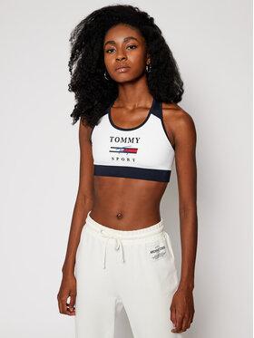 Tommy Sport Tommy Sport Biustonosz top Graphics Mid Support S10S100696 Biały
