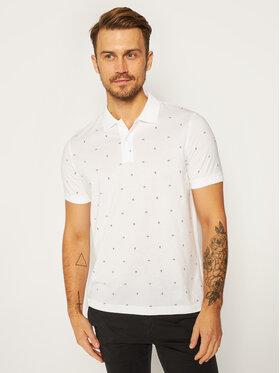Calvin Klein Calvin Klein Тениска с яка и копчета Liquid Ck Monogram K10K105581 Бял Regular Fit