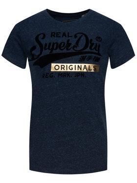 Superdry Superdry T-Shirt W1000020A Granatowy Regular Fit