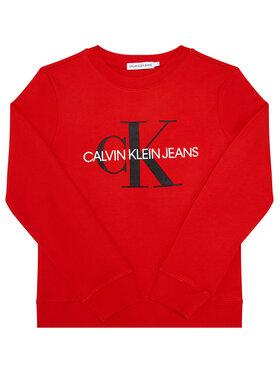 Calvin Klein Jeans Calvin Klein Jeans Bluza Unisex Monogram Logo IU0IU00069 Czerwony Regular Fit