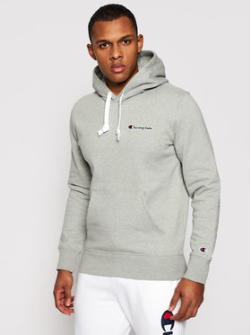 Champion Champion Sweatshirt Small Script Logo Fleece 214780 Grau Comfort Fit