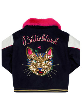 Billieblush Billieblush Μπουφάν μεταβατικό U16257 Σκούρο μπλε Regular Fit