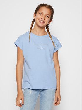 Pepe Jeans Pepe Jeans Póló Nuria PG502460 Kék Regular Fit