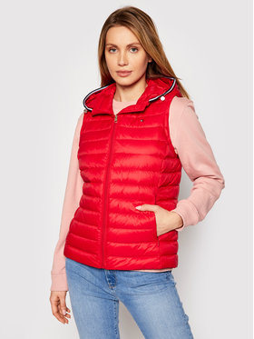 Tommy Hilfiger Tommy Hilfiger Gilet Th Ess WW0WW30841 Rouge Regular Fit