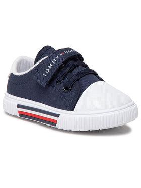 Tommy Hilfiger Tommy Hilfiger Trampki Low Cut Lace-Up/Velcro Sneaker T1B4-31067-0890 Granatowy