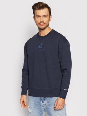 Tommy Jeans Tommy Jeans Mikina Tonal Circular Graphic Crew DM0DM11634 Tmavomodrá Relaxed Fit