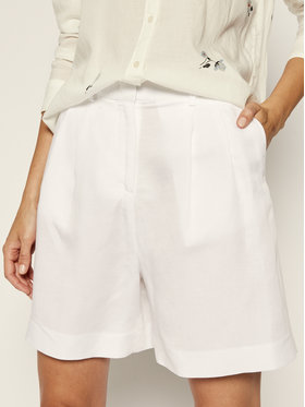 TOMMY HILFIGER TOMMY HILFIGER Pantaloncini di tessuto WW0WW27568 Bianco Relaxed Fit
