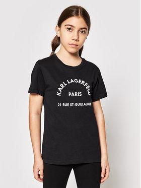 KARL LAGERFELD KARL LAGERFELD T-shirt Z25272 S Crna Regular Fit