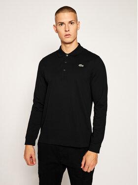 Lacoste Lacoste Тениска с яка и копчета YH9521 Черен Slim Fit