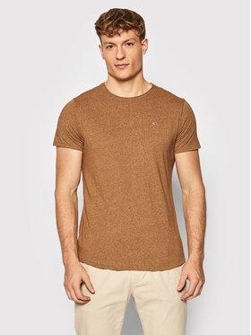 Tommy Jeans Tommy Jeans T-Shirt Jaspe DM0DM09586 Brązowy Slim Fit