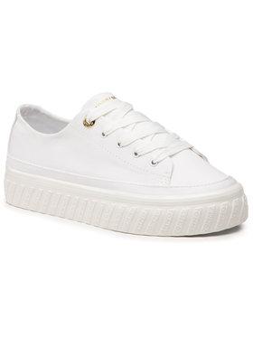 Tommy Hilfiger Tommy Hilfiger Tenisówki Shiny Flatform Vulc Sneaker FW0FW05536 Biały