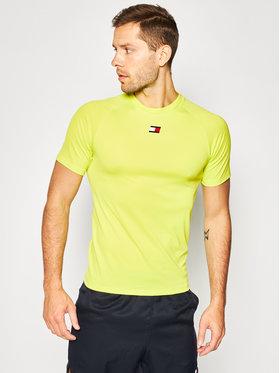 Tommy Sport Tommy Sport T-shirt Trainning Mesh S20S200347 Verde Regular Fit