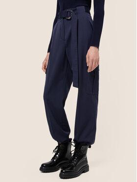 Hugo Hugo Текстилни панталони Hakeli 50436071 Тъмносин Tapered Fit