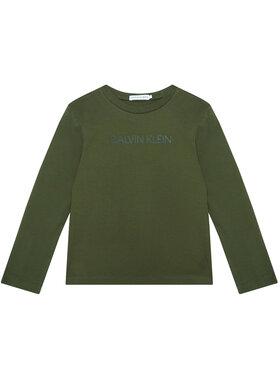 Calvin Klein Jeans Calvin Klein Jeans Bluză Institutional IB0IB00599 Verde Regular Fit