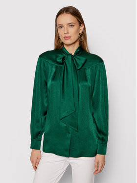 Luisa Spagnoli Luisa Spagnoli Koszula Lettere 538479 Zielony Regular Fit