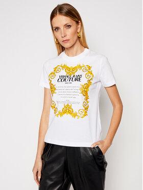 Versace Jeans Couture Versace Jeans Couture T-Shirt B2HWA7TJ Biały Regular Fit