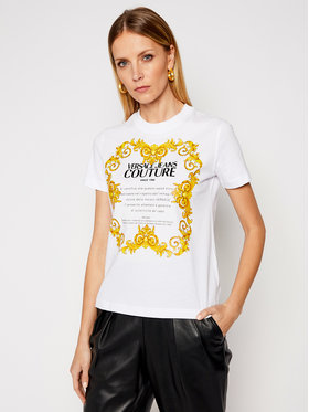 Versace Jeans Couture Versace Jeans Couture T-shirt B2HWA7TJ Bijela Regular Fit