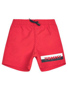 TOMMY HILFIGER TOMMY HILFIGER Short de bain Medium Drawstring UB0UB00277XL7 Rouge Regular Fit