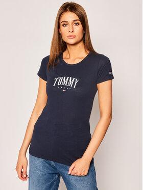 Tommy Jeans Tommy Jeans T-Shirt Script DW0DW08061 Tmavomodrá Slim Fit