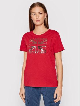 Pepe Jeans Pepe Jeans T-Shirt Zeldas PL505037 Červená Regular Fit