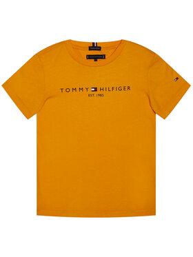 TOMMY HILFIGER TOMMY HILFIGER Marškinėliai Essential Tee KB0KB05844 M Oranžinė Regular Fit