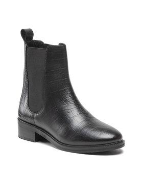 Pepe Jeans Pepe Jeans Kotníková obuv s elastickým prvkem Orsett Chelsea PLS50423 Černá