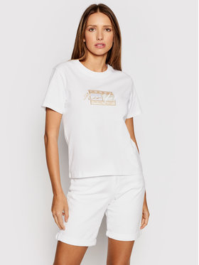 Tommy Jeans Tommy Jeans T-shirt Embroidered Flag DW0DW09813 Blanc Regular Fit