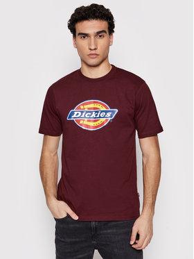 Dickies Dickies T-Shirt Icon Logo DK0A4XC9MR01 Bordowy Regular Fit