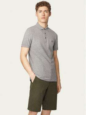 Boss Boss Тениска с яка и копчета Passenger 50378334 Сив Slim Fit