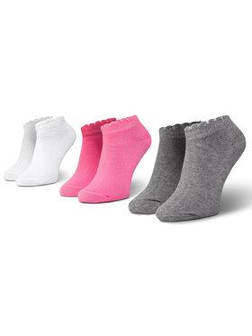 Mayoral Mayoral Sada 3 párů dětských nízkých ponožek 10788 Bílá