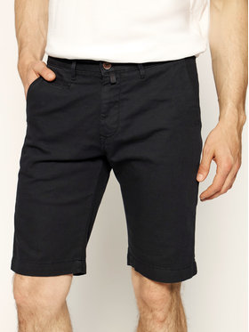 Pierre Cardin Pierre Cardin Szorty materiałowe 3465/2040 Czarny Tailored Fit