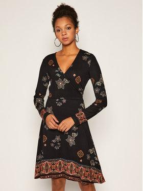Desigual Desigual Každodenní šaty Singapur 20WWVK99 Černá Regular Fit