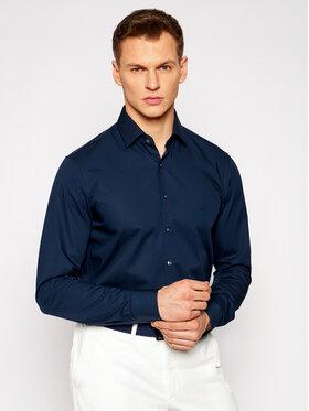 Calvin Klein Calvin Klein Koszula Poplin K10K106040 Granatowy Slim Fit