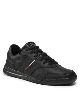 Tommy Hilfiger Tommy Hilfiger Sportcipő Lightweight Sneaker Lea Stripe FM0FM03729 Fekete