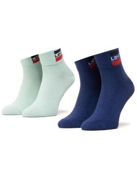 Levi's® Levi's® Комплект 2 чифта къси чорапи унисекс 37157-0463 Зелен