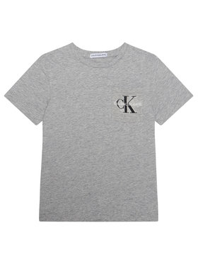 Calvin Klein Jeans Calvin Klein Jeans T-Shirt Monogram Pocket Top IB0IB00457 Šedá Regular Fit