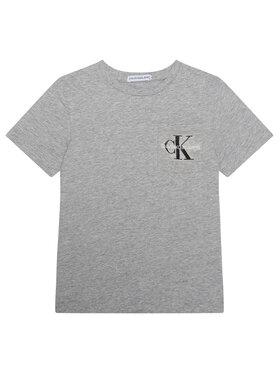 Calvin Klein Jeans Calvin Klein Jeans Tričko Monogram Pocket Top IB0IB00457 Sivá Regular Fit